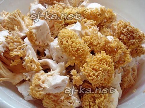 промыть гриб-лапшу