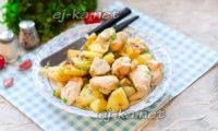 Индейка на сковороде с картошкой