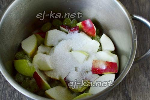 к фруктам добавить сахар