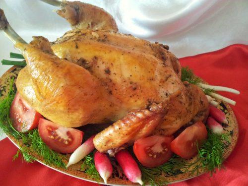 Печеная курица