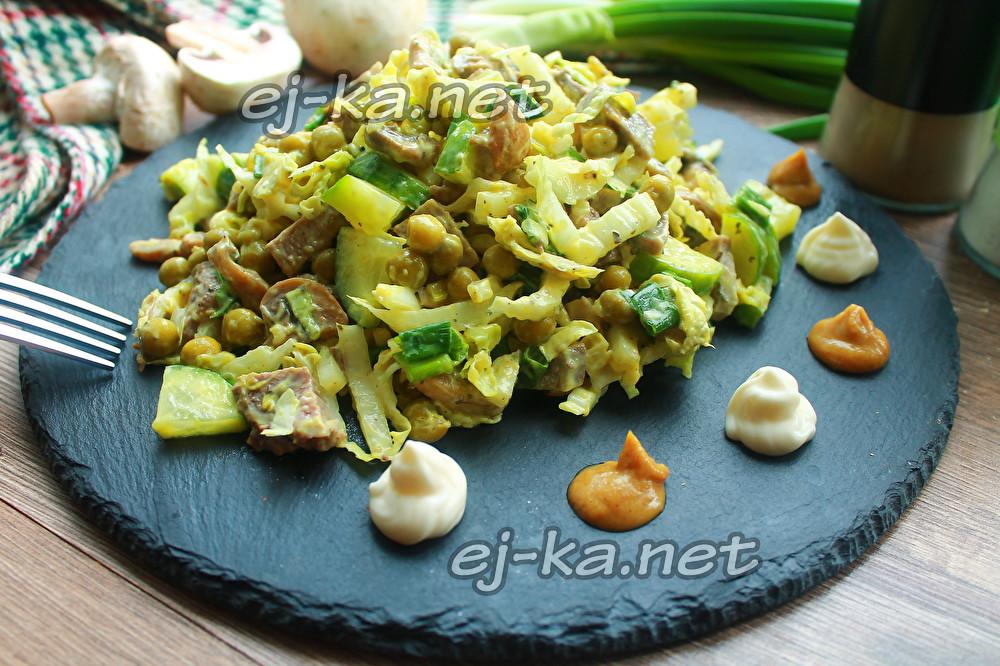 салат со свиным языком и пекинской капустой