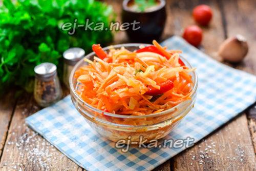 Вкусный салат из капусты с перцем