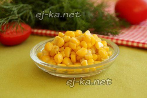 подготовить консервированную кукурузу