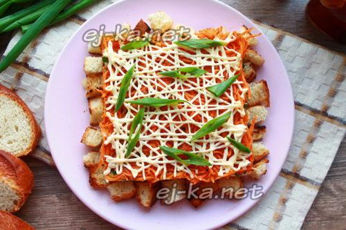 салат с морковью по-корейски и курицей готов