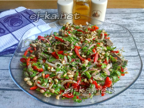 "салат ""Тбилиси"" готов"