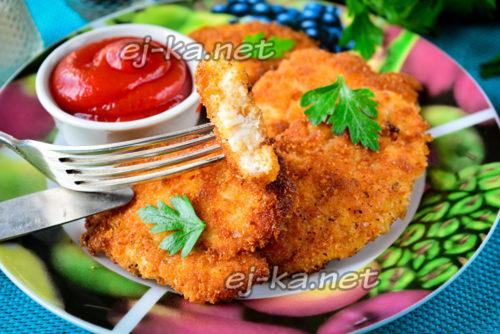 аппетитный куриный шницель