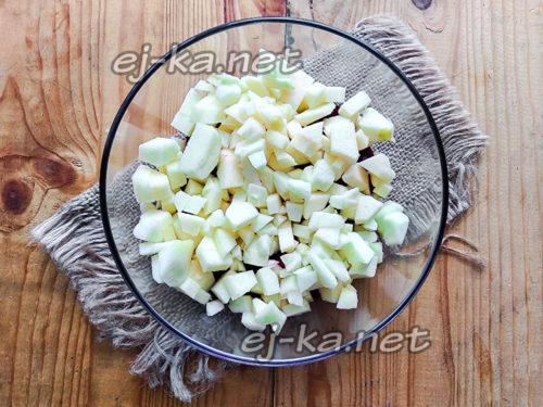 Режем яблочки