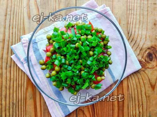 добавляем зеленый лук