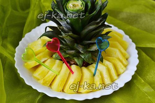как разделать и нарезать ананас