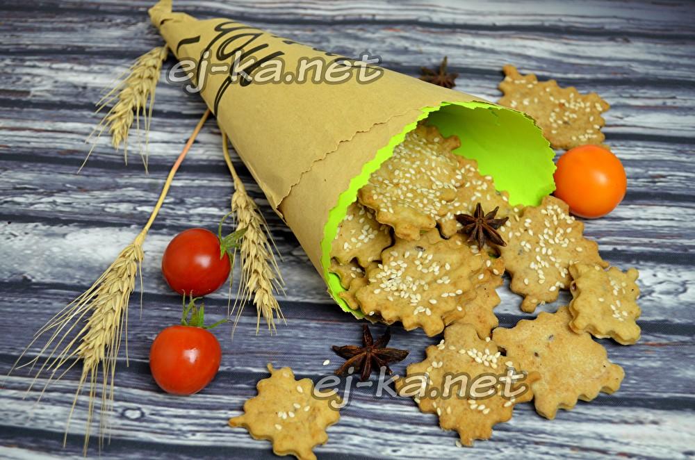 Соленое печенье с кунжутом