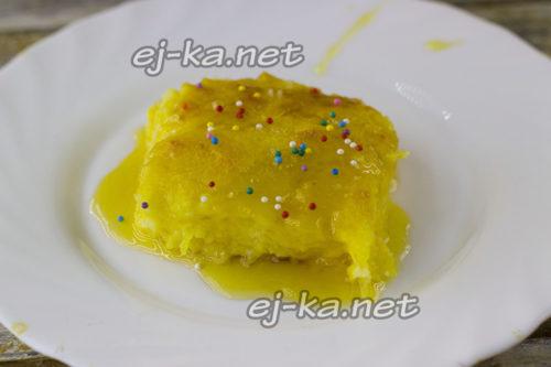 пирог из тыквы готов