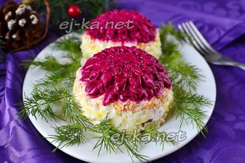 салат селедка под шубой оформление