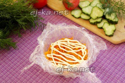 Первый слой морковь