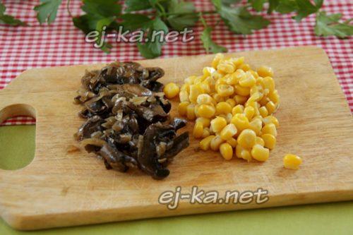 грибы и кукуруза