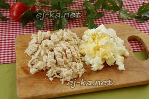 куриное филе и яйцо