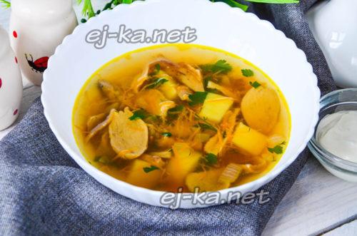 вкусный грибной суп по классическому рецепту