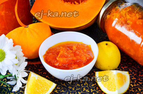 варенье из тыквы с апельсином и лимоном