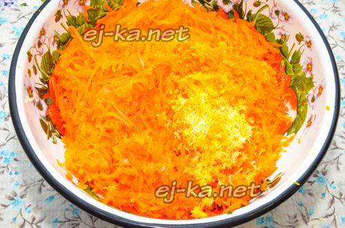 добавить цедру апельсина и лимона
