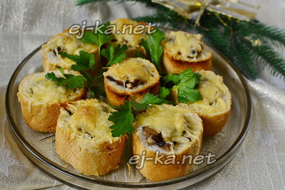 закуска грибные пеньки