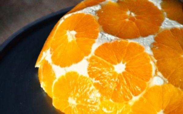 Ароматный десерт с апельсинами