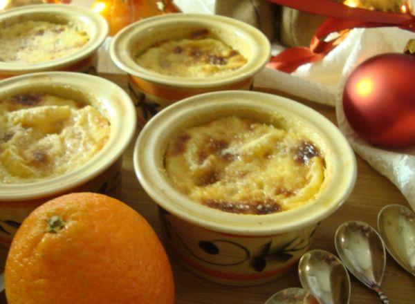 Имбирный крем-брюле с мандаринами и корицей