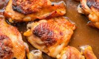 Куриные бедра в духовке с картошкой