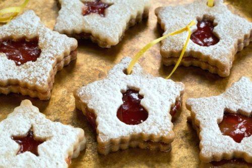 Новогоднее печенье Марблс