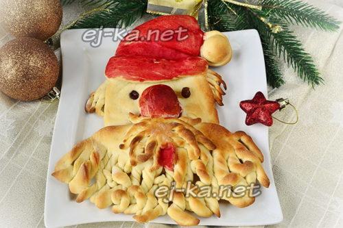 пирог дед мороз на новый год