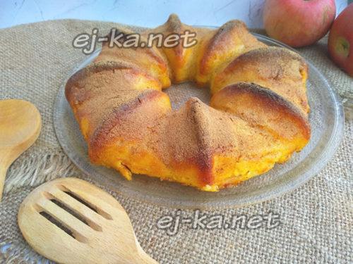 воздушный яблочный пирог невидимый