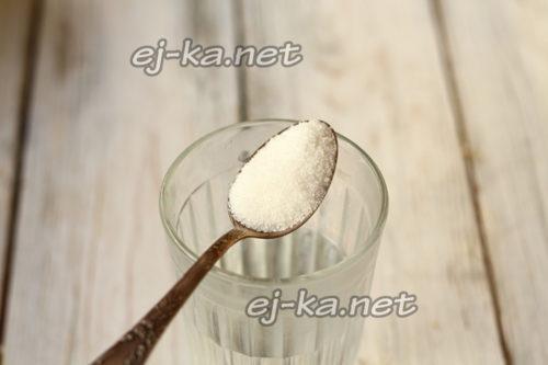 сахар и вода