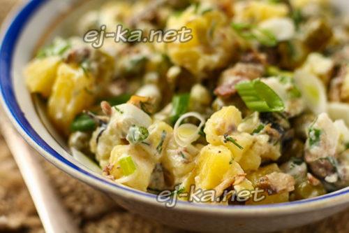 салат со шпротами и зеленым горошком