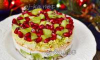 салат драгоценная россыпь с гранатом