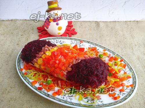 салат новогодняя хлопушка