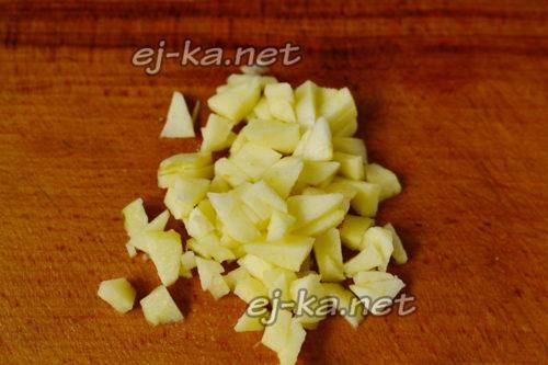 нарезать яблочки