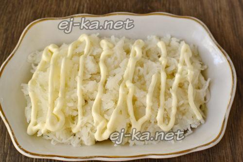 слой картошки