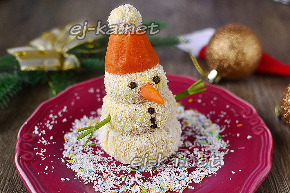 закуска снеговик