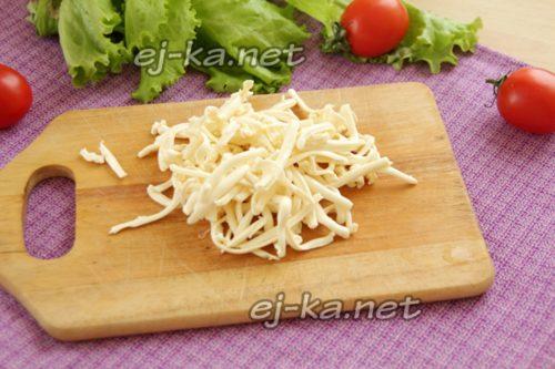 натереть плавленый сыр