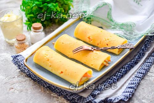 сырные трубочки с корейской морковью