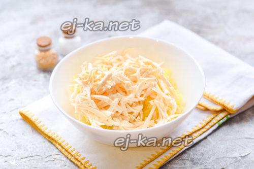 натереть сыр плавленый
