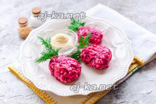 """закуска из сельди """"Клубника"""""""