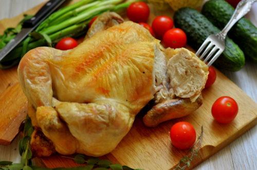 Соляная шуба для курицы
