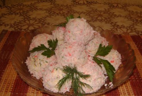Закуска «Сырные шарики с сюрпризом» или «Когда гости на пороге»
