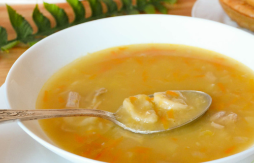 Гороховый суп с галушками