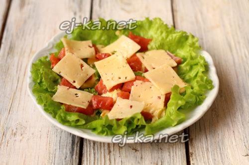 разложить сыр