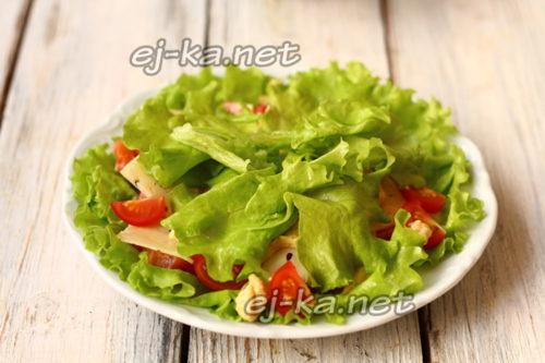 добавить листья салата