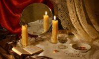 свечи и зеркало
