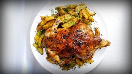 Курица с картофелем по-деревенски