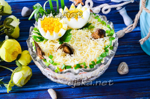салат рыбки