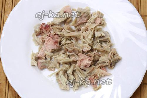 слой куриного мяса