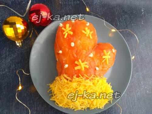 """салат """"Варежка Деда Мороза"""" готов"""